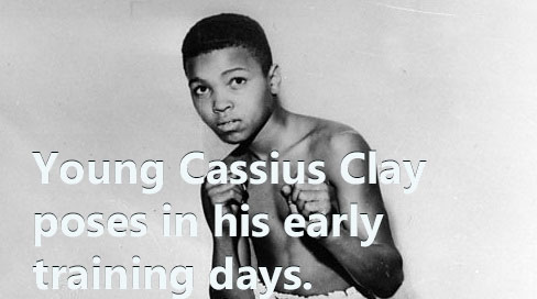 Young Cassius Clay in his early training days