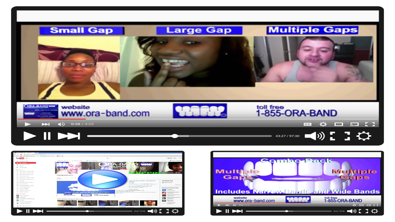 THIS LINK BRINGS VIEWERS TO THE ORA-BAND® YOUTUBE CHANNEL AND COMMENTS PAGE