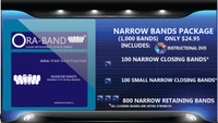 1,000 Narrow Bands *Includes DVD, 100 Extra Strength Narrow Closing Bands, 100 Extra Strength Small Narrow Closing Bands and 800 Narrow Retaining Bands