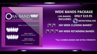500 WIDE BANDS (INCLUDES DVD, 200 EXTRA STRENGTH WIDE CLOSING BANDS AND 300 WIDE RETAINING BANDS)