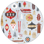 ALPINE GETAWAY Round Art Coasters - Set of 4