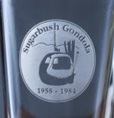 Etched Pint glass,  Sugarbush