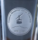 Etched Pint glass, Cannon Tram