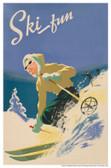 Ski Fun Giclee Print