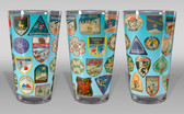 Ski Patches Pint Glass