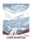 Loon Mountain Screen Print