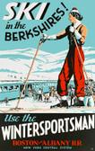 Ski the Berkshires Giclee Print