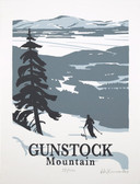 Gunstock Mountain Screened Print-Framed
