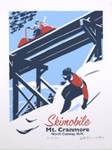 Cranmore Skimobile Screen Print-Framed
