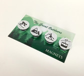 Great Outdoors Ski Magnets