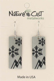 Snowflake and Mountain Earrings