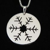Sterling Silver Snowflake Pendant by Muddy Paws Designs
