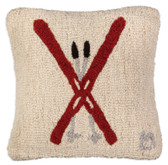 "14"" Crossed Skis Pillow"