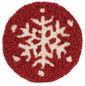 Wool Hooked Snowflake Coaster