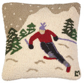 Speedy Skier Pillow