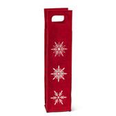 Red Snowflake Wine Bag