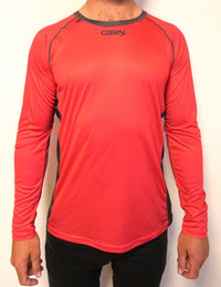 Casey Red Paddle Tee LS