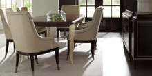 Dining table with two 20″ leaves & Sidechairs with silver ferrule