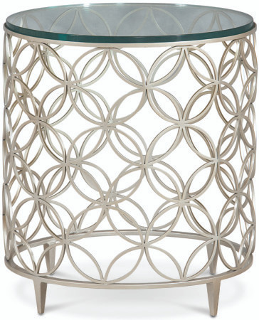 (A) Side Table with rings $1398.00 (SILVER)