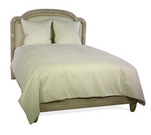 Queen Bed & Headboard, Reeded Ribbon