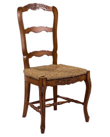 French Ladderback Sidechair $1066.00 Height: 41″ x Width: 20″ x Depth: 21″ COM: 1 yard Finish Shown: Chateau Walnut (Available in any LJS finish