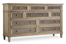 Mirrored Dresser, Traditional 10 Drawer French Style