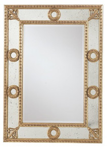 Luxury Mirrored Mirror, Antiqued ON SALE