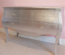 French Chest of Drawers, Crock Silver / 2 Drawer