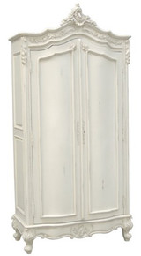 Provencial Armoire Double Door, Color Antique White