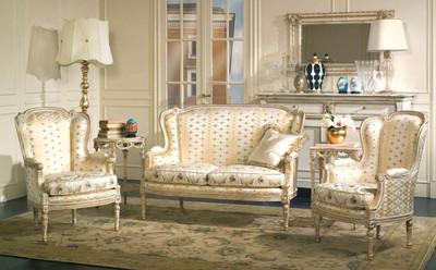 (A)  Living Room Set (sofa, 2 chairs)
