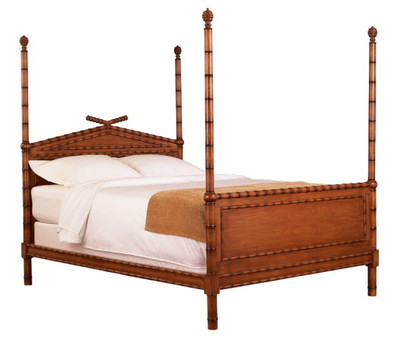 bamboo style four-poster bed