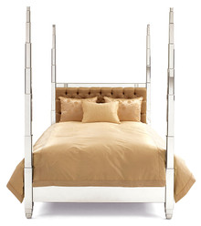 Four Poster Bed - Prism Bed, Mirrored furniture style