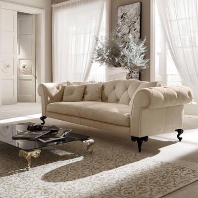 Contemporary Sofa Tufted Sofa High End Living Room Sets