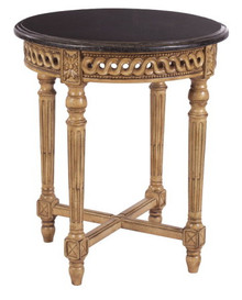 (C) Round Louis XVI end table