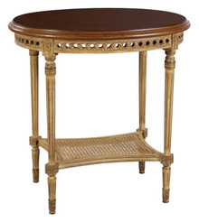 (D)  Oval Louis XVI end table