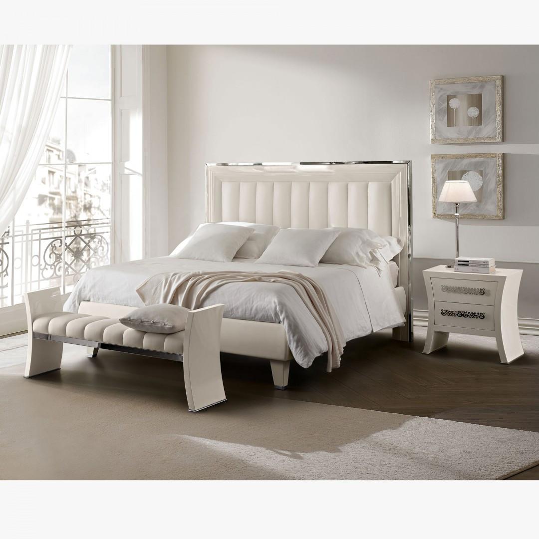 Bedroom Set, Modern Bedroom Furniture Silver And White