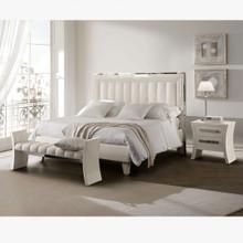 Glam Bedroom Set, White & Silver