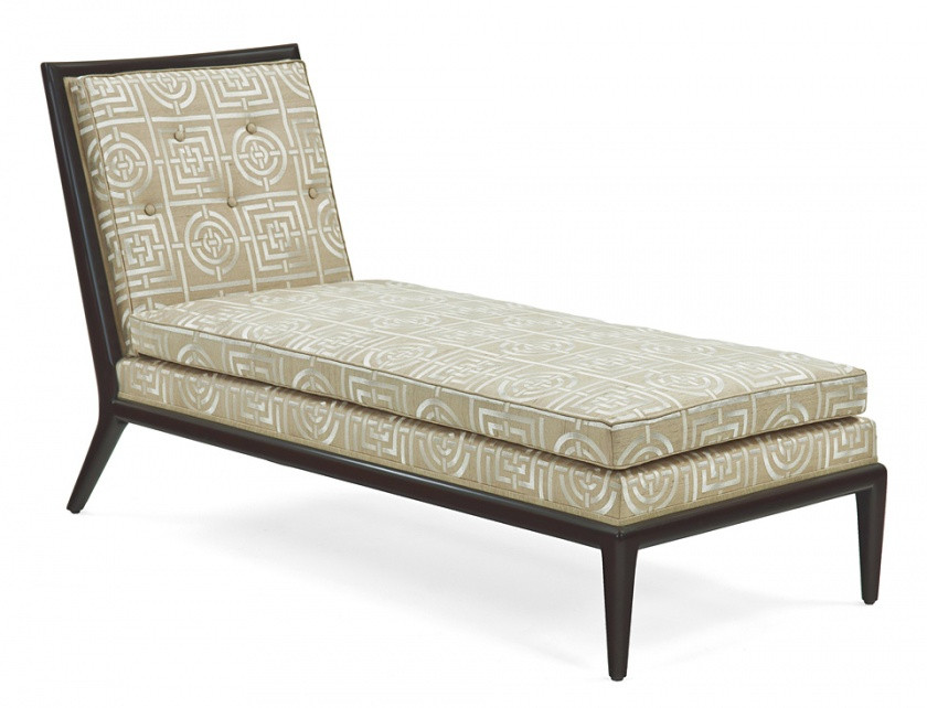 Modern chaise lounge with wood frame for Chaise oslo but
