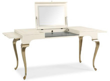 Vanity, Modern Cream Finish with silver legs