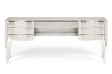 Sterling Silver Desk with crystal button pulls