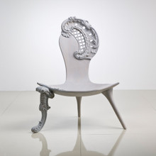 Rococo Chair, White Modern Style