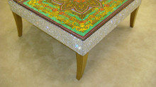 Luxury Coffee Table, The Belgravia Diamante Green & Gold