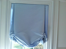 Tailored Balloon Shade / Soft Roman Shade, Silk Duchess