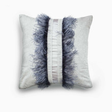 Cashmere w/Real Feathers, Grey $1022.00  24 x 24 inch approx.