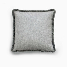 Cushion Type:Cashmere, Grey with moss fringe  $713.00