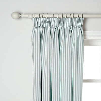 Curtains Ticking Stripe Green And White