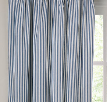Curtains Ticking Stripe Blue And White Cheap Curtains
