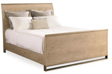 Metal & Wood bed, Light Oak Finish