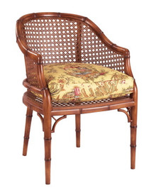 Bergere Chair, cane back bamboo style