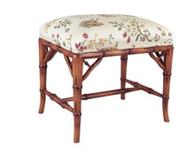 Bamboo Upholstered Bench small